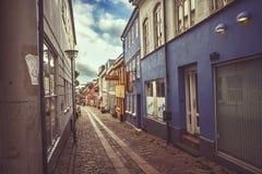 Улица в Horsens, Дании Стоковые Фото