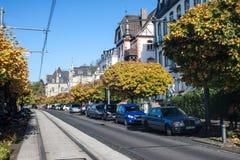Улица в Koenigswinter Стоковая Фотография