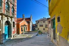 Улица в Labin, Хорватии Стоковые Фото