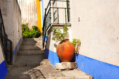 Улица в Obidos, Португалии Стоковое фото RF