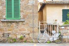 Улица в Pienza, Тоскане, Италии Стоковое Фото