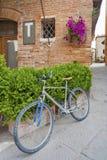 Улица в Pienza, Тоскане, Италия, Стоковые Изображения RF