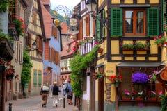 Улица в Ribeauville Стоковые Фото