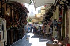 Улица в Rodos Стоковые Фотографии RF