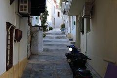 Улица в Skopelos Стоковая Фотография RF