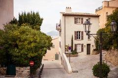Улица в St Tropez стоковая фотография