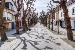 Улица в Valkenburg aan de Geul, Нидерландах Стоковая Фотография RF