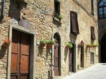 Улица в Volterra Италии Стоковое Фото