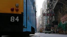 Улица Гонконга в течение дня сток-видео