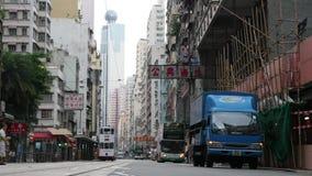 Улица Гонконга и различные установки сток-видео