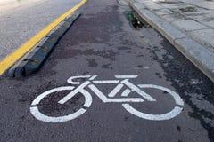 Улица города велосипеда Стоковое Изображение RF