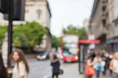 Улица города с людьми и переход в Лондоне Стоковое Изображение
