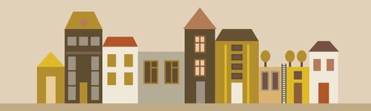 Улица города иллюстрация штока