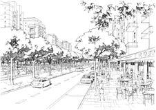 Улица города - 02 Стоковое Изображение