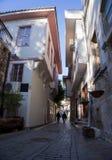 Улица городка Антальи старая, улица города Антальи старая стоковые фотографии rf