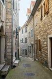 Улица городка Herceg-Novi старого Стоковое Изображение RF