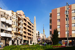 Улица городка. Valls Стоковая Фотография RF