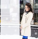 Улица девушки моды Стоковая Фотография