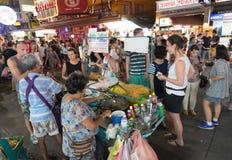 улица еды тайская Стоковые Фото