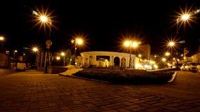 улица звезд моря уютной ночи домов романтичная вниз Стоковое Фото