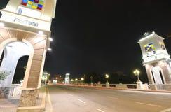 улица звезд моря уютной ночи домов романтичная вниз Стоковые Фотографии RF
