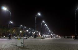 улица звезд моря уютной ночи домов романтичная вниз Стоковые Изображения RF