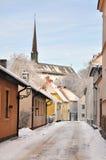 Улица зимы Стоковые Изображения RF