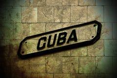 Знак Кубы Стоковое Изображение RF