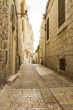 Улица Иерусалима в старом городе стоковые изображения rf