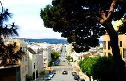 Улица каштана - Сан-Франциско, Калифорния Стоковая Фотография RF