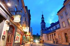 Улица Квебека (город) Стоковая Фотография RF