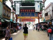 Улица Куала-Лумпур Petaling, Чайна-таун Малайзия Стоковая Фотография RF