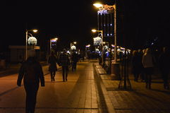 Улица курорта ночи стоковое фото rf