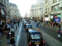 Улица Лондон Оксфорда Стоковые Изображения
