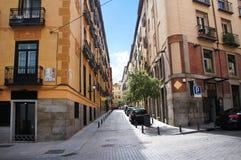 Улица Мадрида старая квартальная Стоковые Изображения