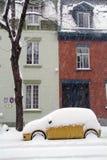 Улица Монреаля в зиме стоковая фотография