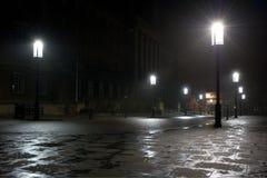 Улица молельни Norwich City на ноче Стоковая Фотография RF