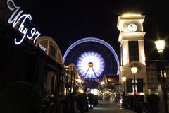Улица на ноче Стоковые Фото