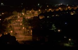 Улица на ноче Стоковые Изображения
