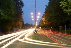 Улица на ноче Стоковая Фотография