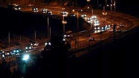 Улица на ноче - Timelapse сток-видео