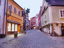 Улица на сумраках Стоковое Изображение RF