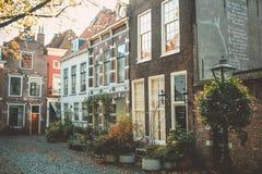 Улица Нидерланды Лейдена стоковое фото rf