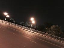 Улица ночи в Хошимине Стоковое Изображение