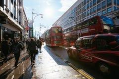 Улица Оксфорда, Лондон, 13 05 2014 Стоковая Фотография RF