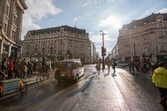 Улица Оксфорда, Лондон, 13 05 2014 Стоковые Фотографии RF