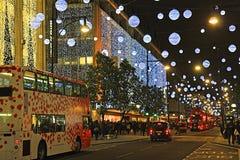 Улица Оксфорда на рождестве Стоковое фото RF