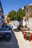 Улица острова Alonissos греческая Стоковое фото RF
