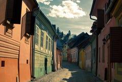 Улица от Sighisoara стоковые изображения