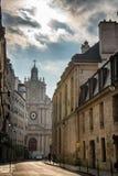 Улица переулка Парижа Стоковое фото RF